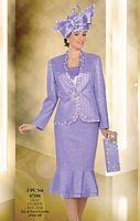Ben Marc International Womens Satin 3pc Church Suit 47106 image