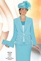 Ben Marc International Womens 3pc Church Suit 47121 image