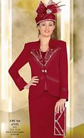 Ben Marc International Womens Red 3pc Church Suit 47152 image