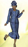 BenMarc Intl 47213 Womens Multi Color Church Suit image
