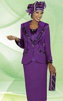 BenMarc International 47221 Womens Magenta Church Suit image