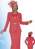 Ben Marc Intl 47230 Womens Coral Church Suit image