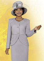 BenMarc 47242 Intl Womens Platinum Two Piece Church Suit image