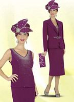 BenMarc Intl 47247 Womens Magenta Church Suit image