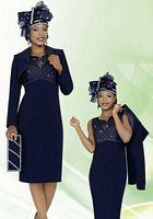 BenMarc 47253 International Womens Navy Church Suit image