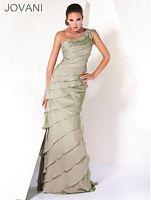 Jovani Tiered One Shoulder Evening Dress 473 image