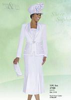 Ben Marc 47306 Womens White Church Suit image