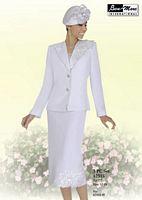 Ben Marc 47315 Womens White Church Suit image