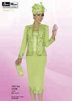 Ben Marc Intl 47338 Womens Lime Church Suit image