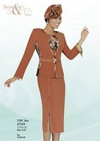 Ben Marc 47343 Womens Orange Church Suit image