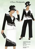 Ben Marc 47355 Womens 4pc Weekender Church Skirt Suit with Pants image