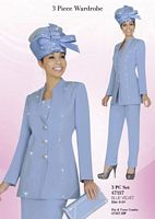 Ben Marc 47357 Womens Three Piece Church Suit image