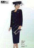 Ben Marc 47360 Womens Navy Church Suit image