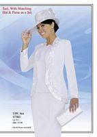 Ben Marc 47361 Womens White Church Suit image
