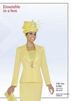 Ben Marc 47365 Womens Yellow Church Suit image