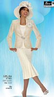 Ben Marc Intl Womens Off White Church Suit 47405 image