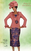 Ben Marc Intl Womens Ruffle Church Suit 47407 image