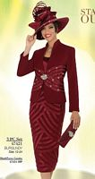Ben Marc Intl Womens Embellished Church Suit 47421 image