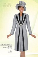 Ben Marc 47440 Womens Church Suit with Long Jacket image