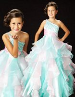 Sugar by MacDuggal Girls Adorable Organza Ruffle Pageant Dress 4775S image