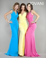 Jovani Ruched Jersey Evening Gown 4810 image