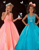 Sugar by MacDuggal Girls Stonework Pageant Dress 4862S image
