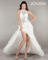 Jovani Cold Shoulder High Low Dress 4863 image