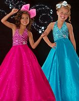 Sugar by MacDuggal Girls Shimmering Pageant Dress 4864S image