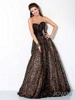 Jovani 490 Ball Gown with Jewel Waist image