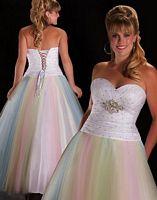 Cassandra Stone II Plus Size White Multi Prom Dress 4901K image