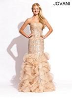 Jovani 4924 Tiered Tulle Mermaid Dress image