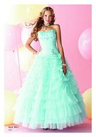 Alfred Angelo Disney Tiered Ruffle Prom Dress 5011 image