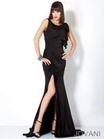 Jovani Ruffle Jersey Party Dress  5084 image