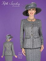 BenMarc Fifth Sunday Womens Platinum Church Suit 52704 image