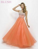 Pink by Blush 5306 Sheer Neckline Evening Gown image