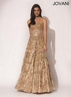 Jovani 5324 Beaded Corset Formal Dress image