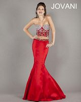 Jovani 2pc Mermaid Gown 5337 with Bare Waist image