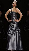 Black Label Taffeta Corset Pickup Evening Dress by Alyce 5393 image