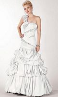 Alyce Paris Black Label Prom Dress with Pickup Skirt 5418 image