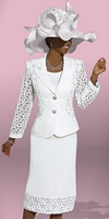 Size 18 White Donna Vinci Couture 5447 Womens 3pc Church Suit image