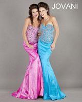 Jovani 5496 Beaded Mermaid Gown image