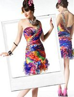 BabyDoll by MacDuggal Spicy Salsa Ruffle Short Prom Dress 5512B image
