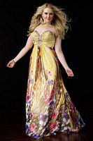 Alyce Prom Plus Size Chiffon Print Dress 56741 image