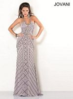 Jovani 5774 Stud Beading Jersey Evening Dress image