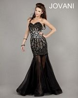 Jovani 5781 Beaded Gown with Sheer Skirt image