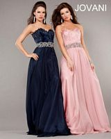 Jovani Feather Top Formal Gown 5831 image