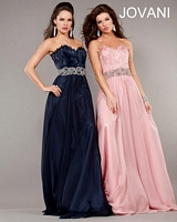 Jovani 5831 Feather Top Formal Dress image