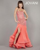 Jovani Tiered Ruffle Drop Waist Gown 5869 image