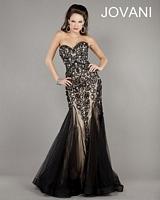 Jovani 5913 Beaded Print Formal Dress image