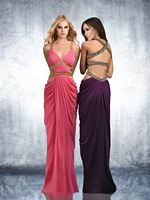 Shimmer by Bari Jay 59408 Bare Hip Grecian Dress image